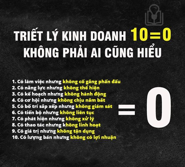 TRIẾT LÝ KINH DOANH 10=0 KHÔNG PHẢI AI CŨNG HIỂU